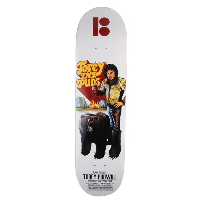 Plan B - Pudwill Action Flick 8.0 Skateboard Deck