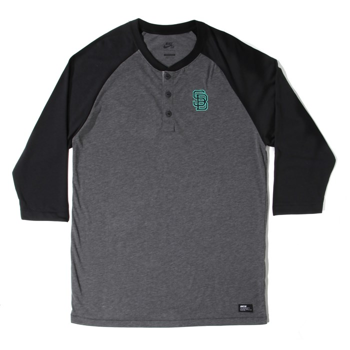 Nike SB - Everett Dri-Fit 3/4 Henley Top