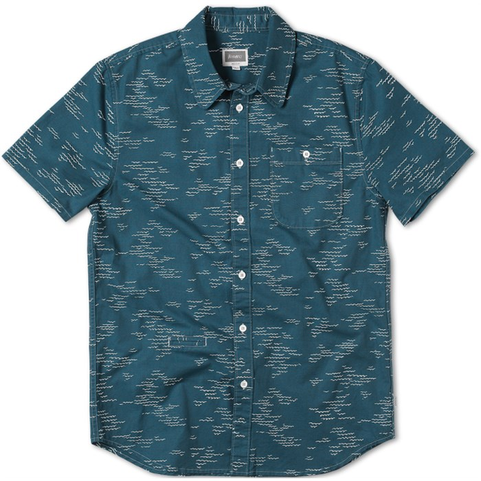 Altamont - Wavy Short-Sleeve Button-Down Shirt
