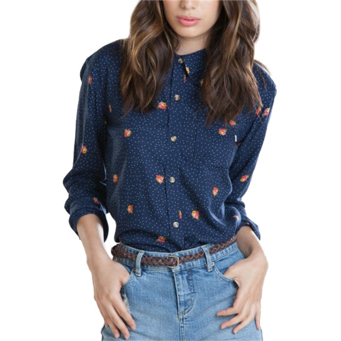 Obey Clothing Alanis Long-Sleeve Button-Down Shirt - Women's | evo