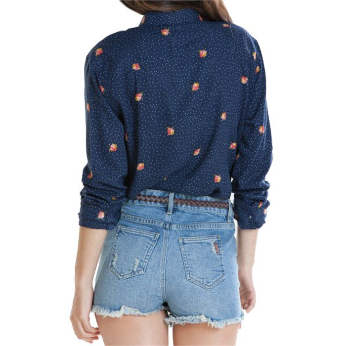 Obey Clothing Alanis Long Sleeve Button Down Shirt Women S Evo
