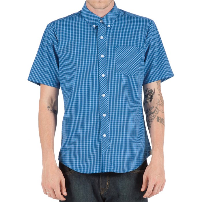 Volcom - Weirdoh Mini Check Short-Sleeve Button-Down Shirt