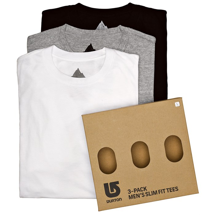 Burton - Burton Slim Fit 3 Pack T-Shirts