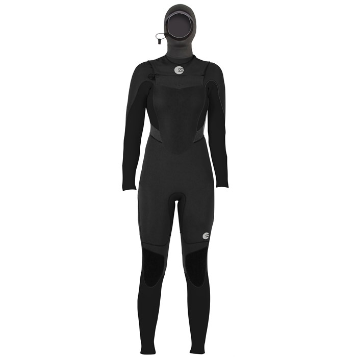 Billabong - Synergy 5/4 Chest Zip Hooded Wetsuit - Women's