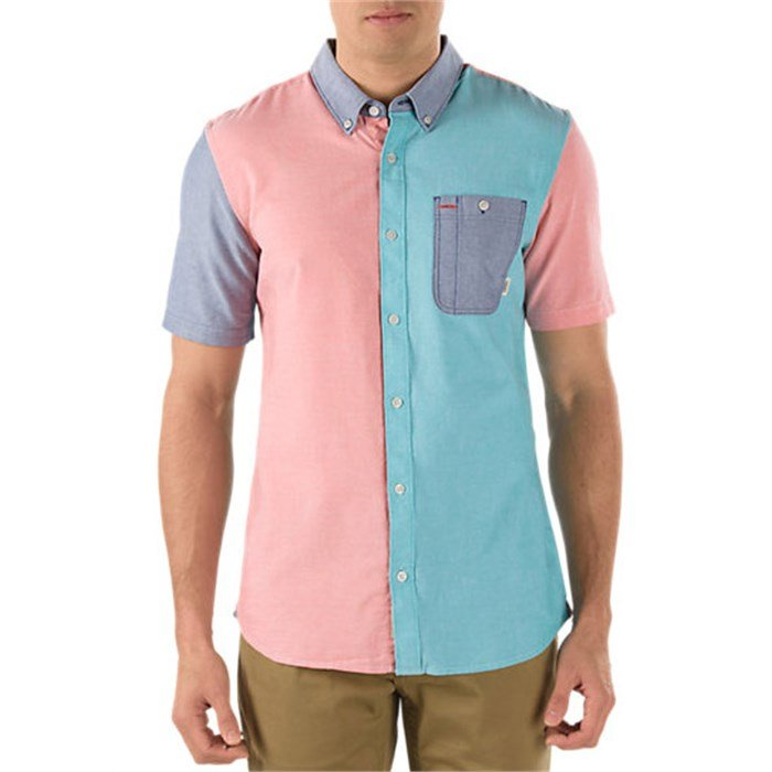 Vans Rusden Block Short-Sleeve Button-Down Shirt | evo outlet