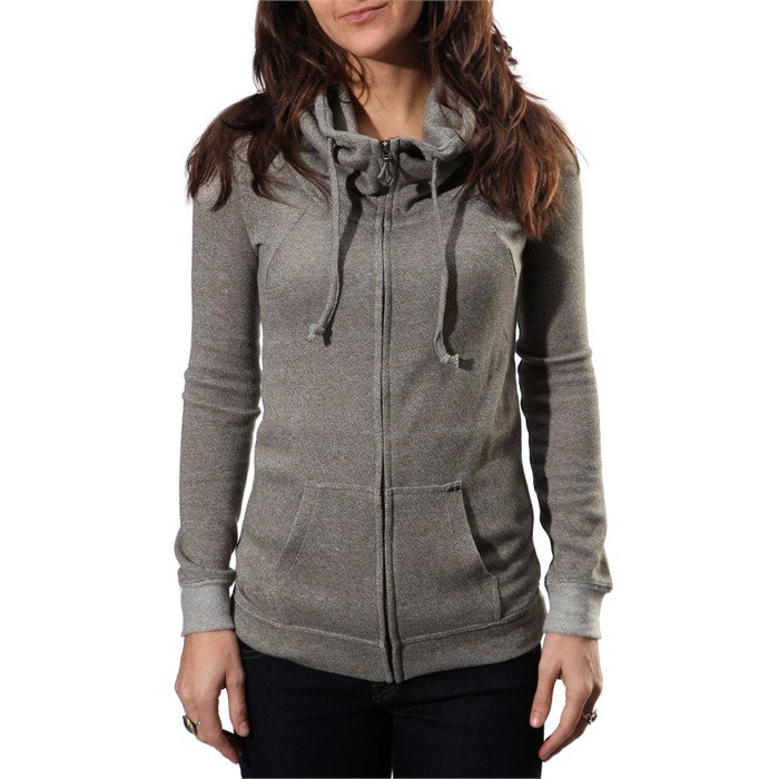 Volcom Knit Me A Zip Hooded Sweatshirt - Women's | evo