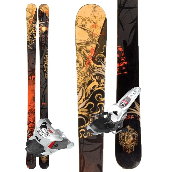 Dynastar - Distorter 6th Sense Skis + Marker Griffon Demo Bindings - Used 2011