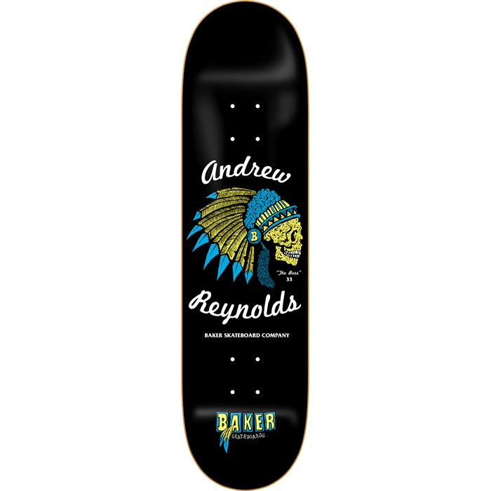 Baker - Reynolds Feather Skull 8.0 Skateboard Deck
