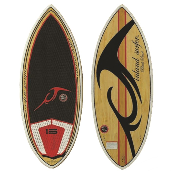Inland Surfer - 4Skim Black Pearl Wake Surfboard 2014
