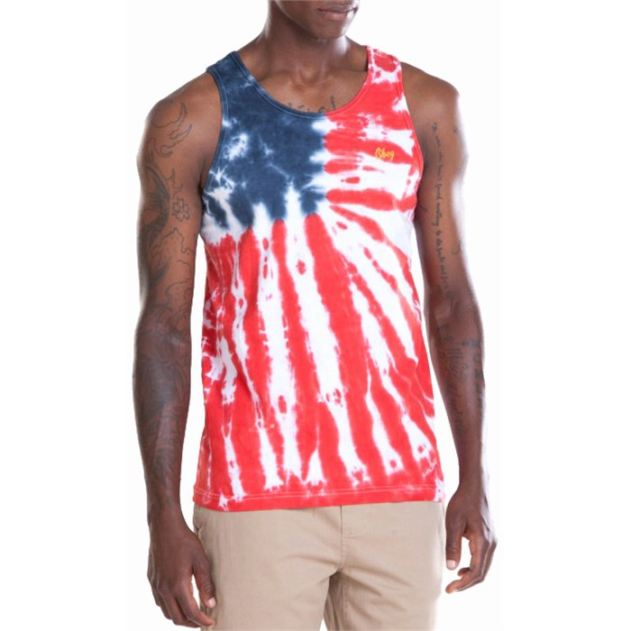 Obey Clothing - Dewallen Splatter Flag Tank Top