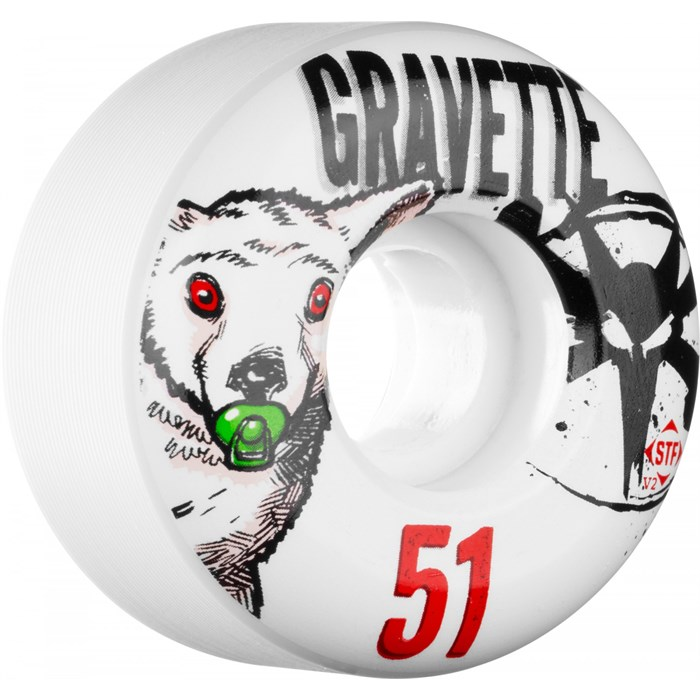 Bones - Gravette Pacifier STF Skateboard Wheels
