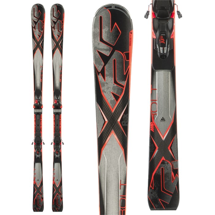 K2 - AMP Bolt Skis + MX 14 Bindings 2015