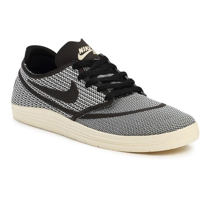 Nike Sb Lunar One Shot R R Skate Shoes Ivory Black