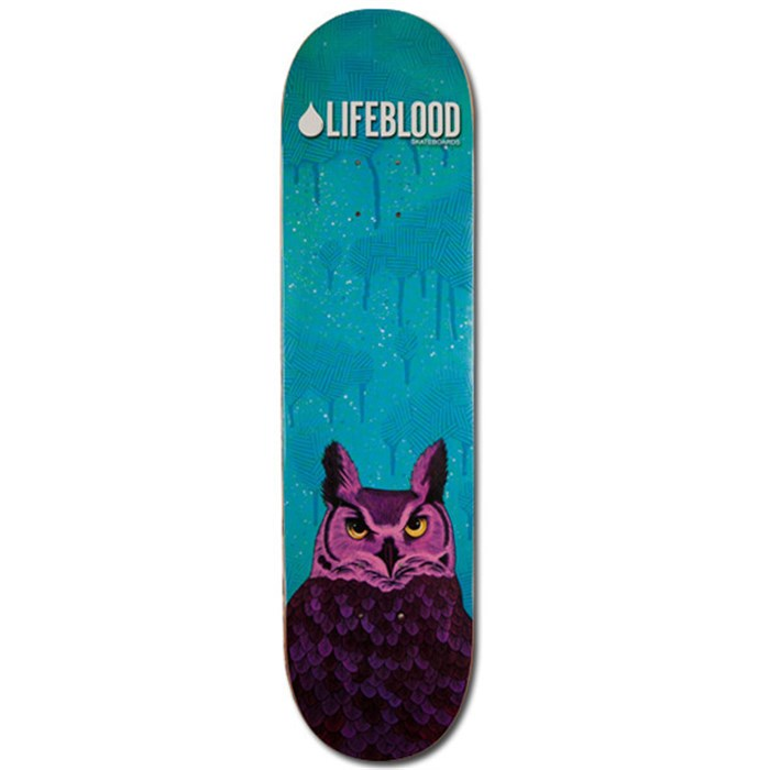 Lifeblood - Feathered Owl Skateboard Deck