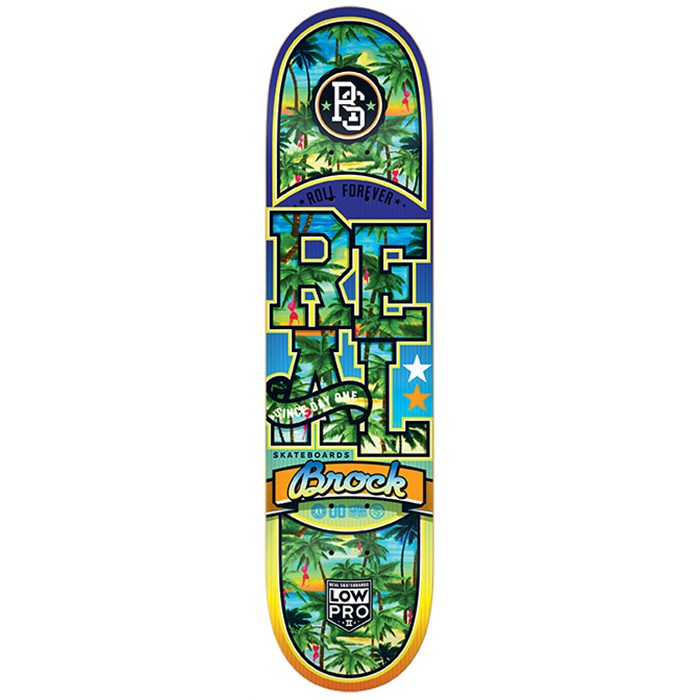 Real - Brock Spring Break Low Pro 2 8.25 Skateboard Deck