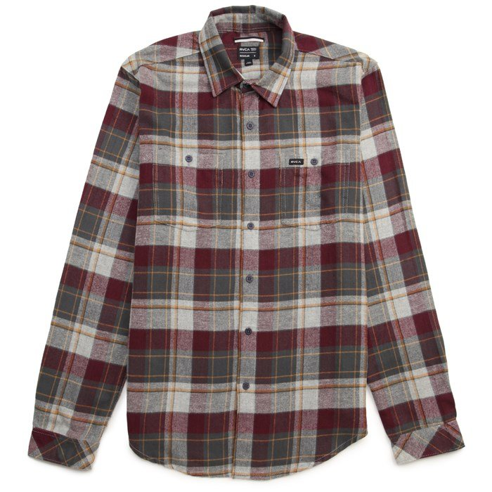 RVCA - Hook Long-Sleeve Button-Down Flannel