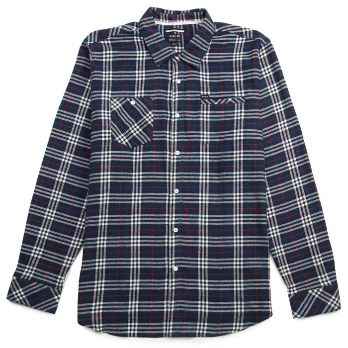 RVCA - Bazz Plaid Long-Sleeve Button-Down Shirt