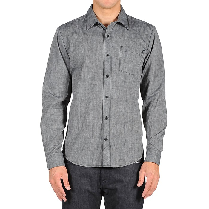 Volcom - Weirdoh Solid Long-Sleeve Button-Down Shirt