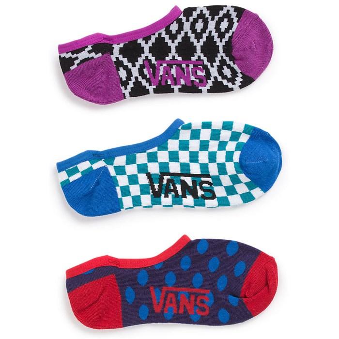 Vans - Geo-Loco Canoodle Socks - 3 Pair Pack - Women's
