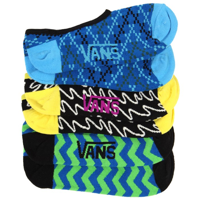 Vans - Linear Canoodle Socks - 3 Pair Pack - Women's