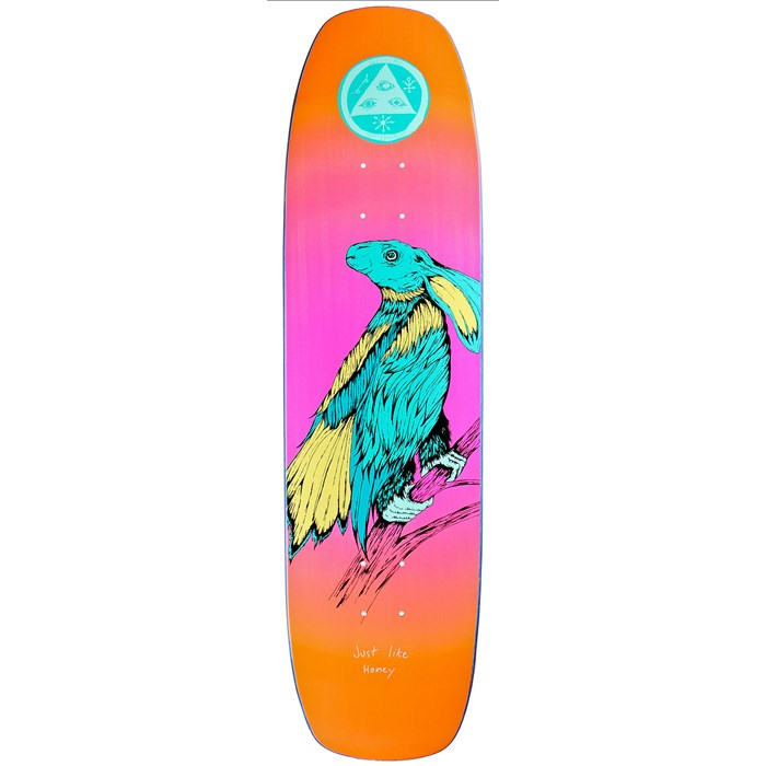 Welcome - Friends For Life 8.4 On Wormtail Shape Skateboard Deck