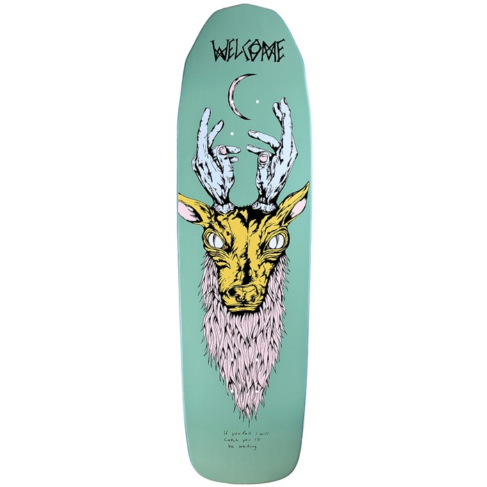 Welcome - Lawerence Elk 8.8 On Basilisk Shape Skateboard Deck