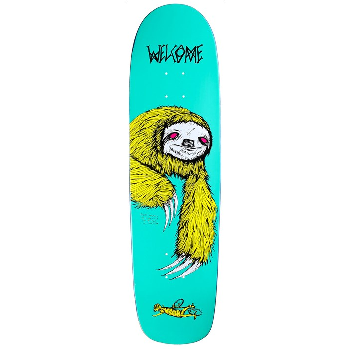 Welcome - Sloth 8.5 On Waxing Moon V2 Shape Skateboard Deck