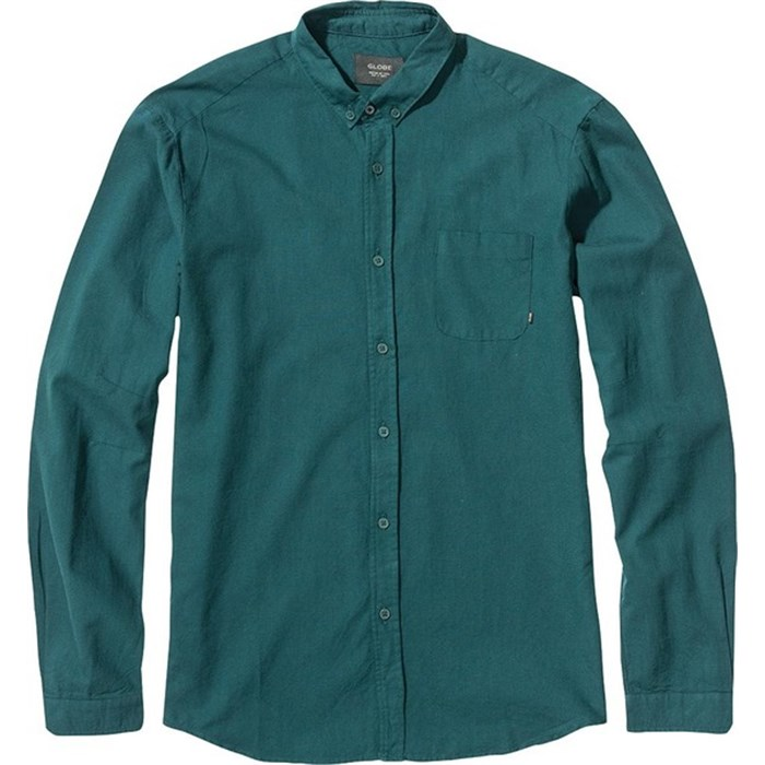 Globe goodstock oxford long sleeve button down shirt evo for Oxford long sleeve button down shirt