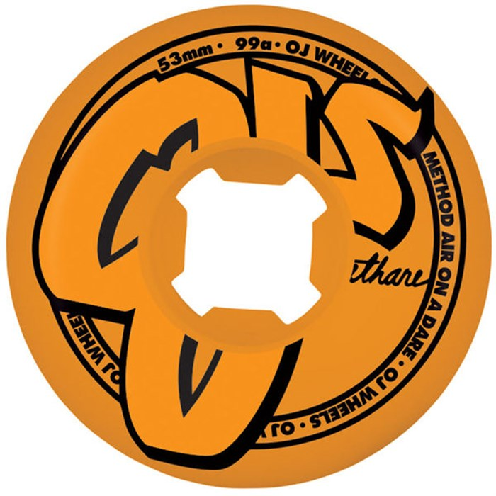 OJ - Logo Family Orange 99a Skateboard Wheels