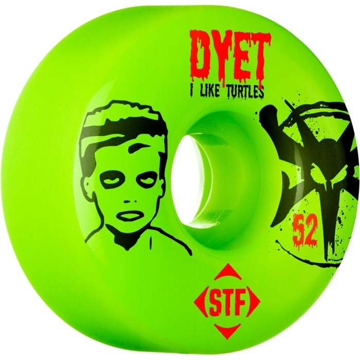 Bones - Dyet Turtles STF Skateboard Wheels