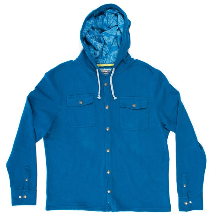 SUPERbrand - Burst Hooded Button-Down Fleece