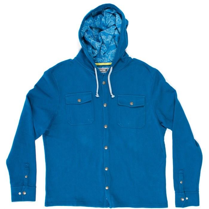 SUPERbrand - Burst Hooded Button-Down Fleece
