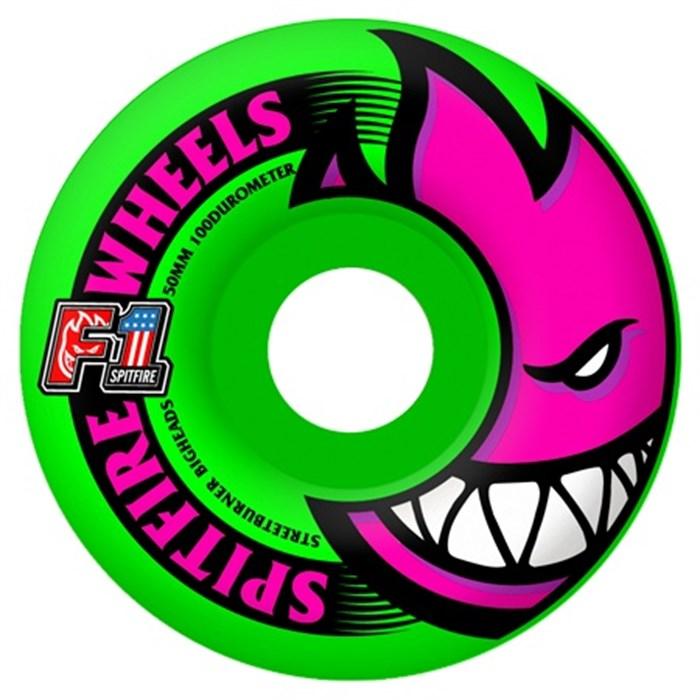 Spitfire - F1 Bighead Neon Green 100a Skateboard Wheels