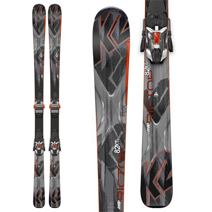 K2 - AMP Rictor 82 XTi Skis + MXC 12 Bindings 2015