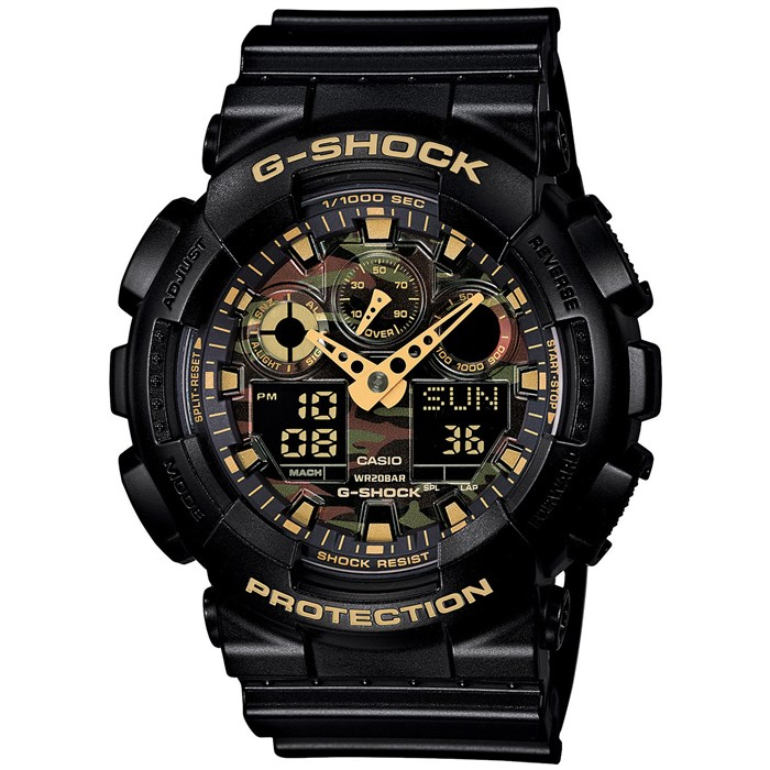 G-Shock - GA-100 Camo Dial Watch