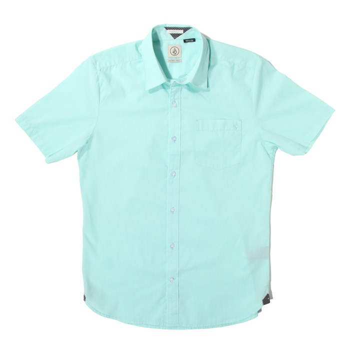 Volcom - Weirdoh Solid Short-Sleeve Button-Down Shirt