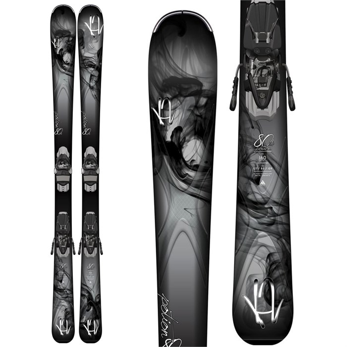 K2 - Potion 80XTi Skis + ERC 11 TC Bindings - Women's 2015
