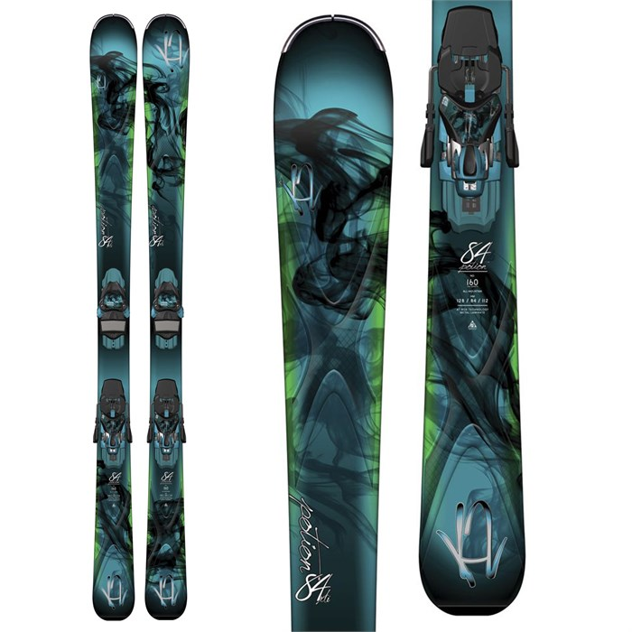 K2 - Potion 84XTi Skis + ERC 11 TC Bindings - Women's 2015