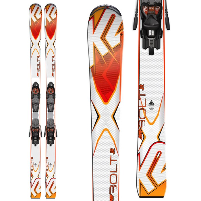 K2 - Bolt Jr Skis + Fastrak2 7 Bindings - Big Boys' 2016