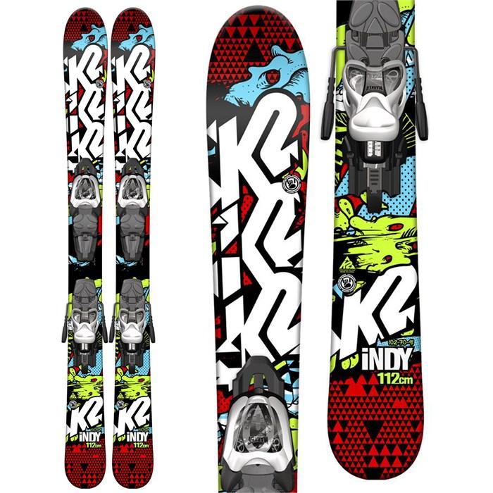 K2 Indy Skis + Fastrak2 4.5 Bindings - Boy's 2015