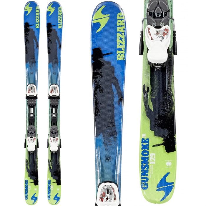 Blizzard - Gunsmoke Jr Skis + IQ 7 Bindings - Boy's 2015 - Used