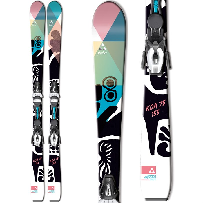 Fischer - Koa 75 Skis + V9 MyStyle Bindings - Women's 2015