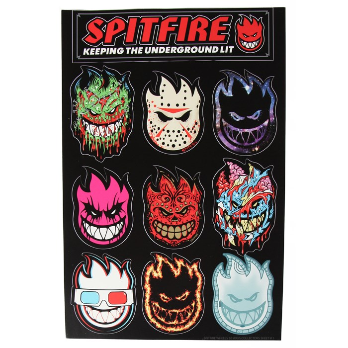 Spitfire - 50 Ways Sticker Sheet