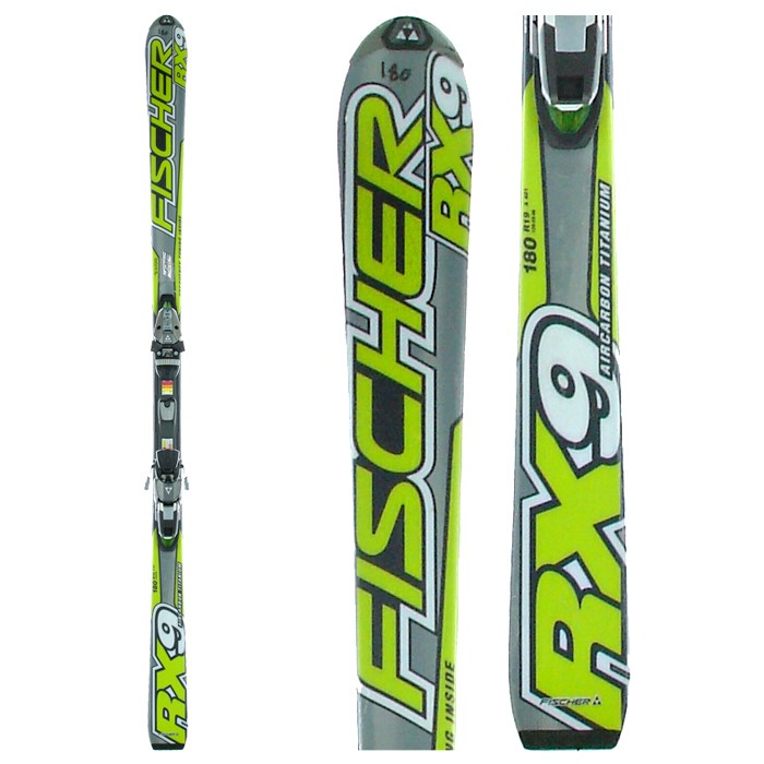 Fischer RX9 Skis + Bindings - Used 2006