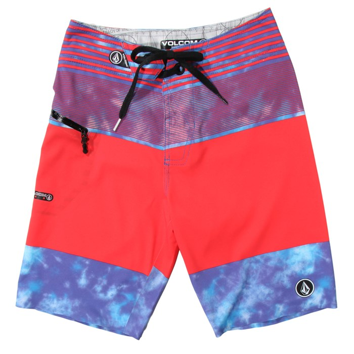 Volcom - Linear Mod Boardshorts (Ages 8-14) - Boy's