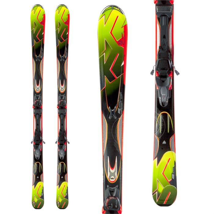 K2 - Rictor Skis + Marker MX 12 Demo Bindings - Used 2013