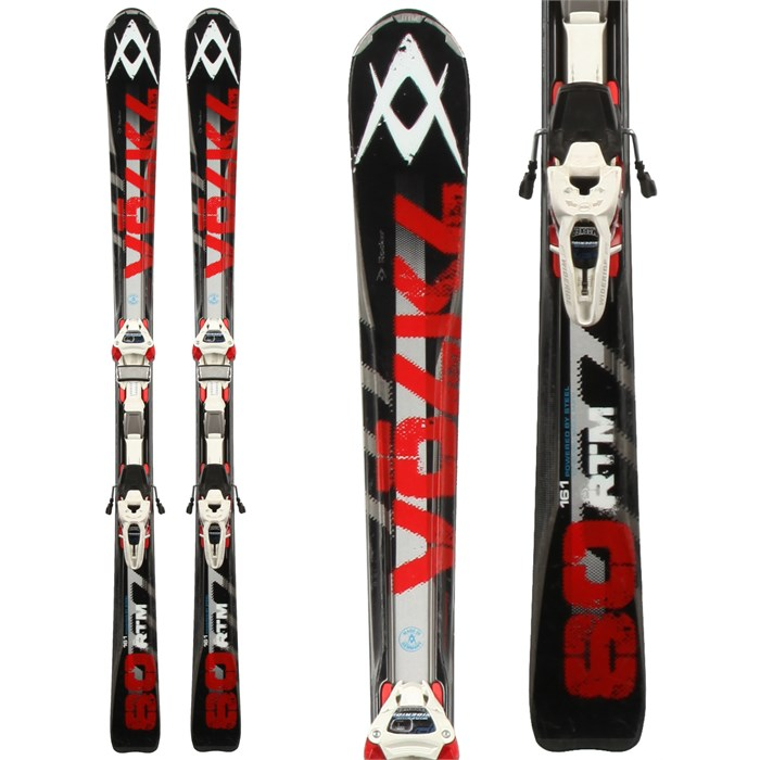 Volkl - RTM 80 Skis + Marker Wide Ride 12 Demo Bindings - Used 2013