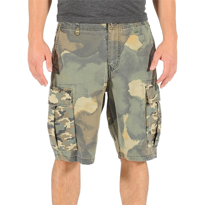 Volcom - Slargo Cargo Mixed Camo Shorts (Ages 4-7) - Boy's