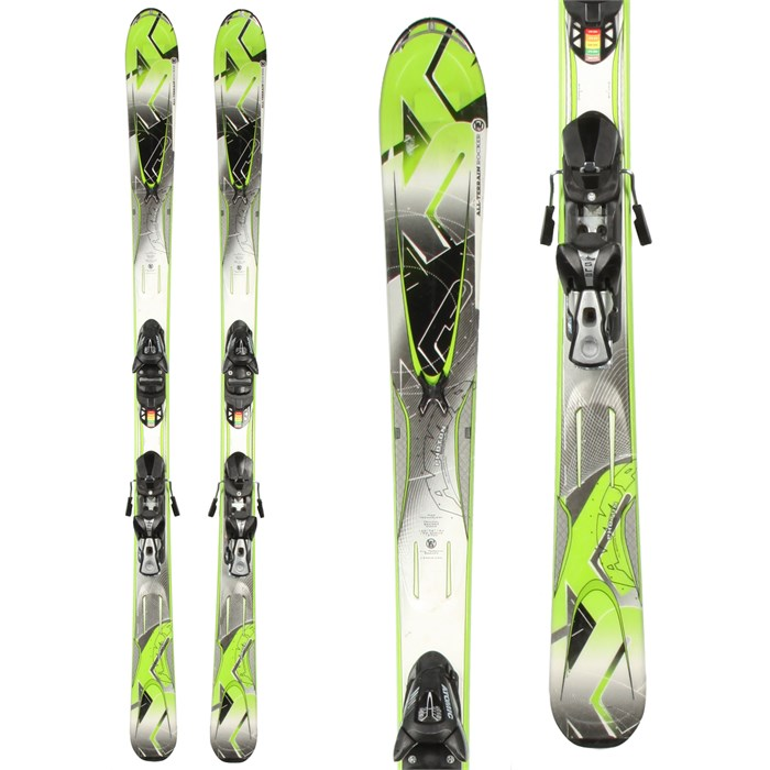 K2 - A.M.P. Photon Skis + EVOX 10 Demo Bindings - Used 2012
