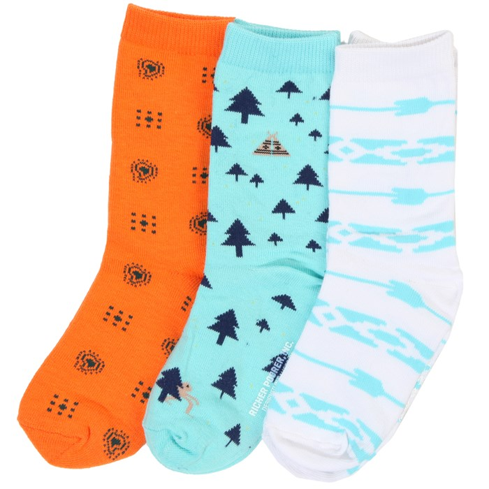 Richer Poorer - Light Blue 3 Pack Socks - Boy's